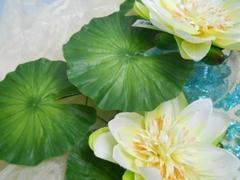 Foglia Lotus Verde in poliestere dm. 15