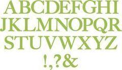Fustelle Alfabeto H 5 - Set da 7 fustelle Bigz