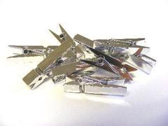 Mollette in Plastica mm. 37 X 6  Colori Metallizzati
