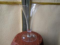 Calice vetro  H 29 - mod. a tromba