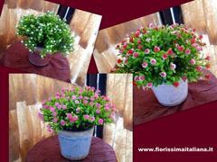 Vaso rujade con fiori