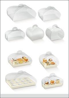 Scatole per bomboniera in PVC modello tortina