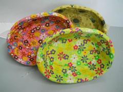 Cesto ovale in vimini cm. 21x28  in 3 colori