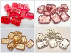 Diamanti rettangolari mm. 14 x 20  busta 40 pezzi