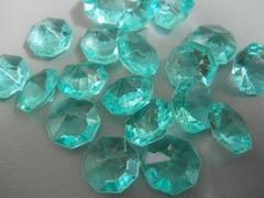 Diamanti ottagonali mm. 12 color Tiffany  busta 120 pezzi