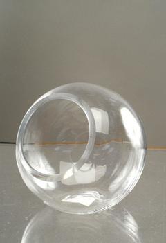 Sfera in vetro   Ø 14 con foro laterale