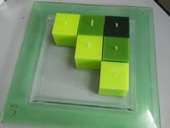 Candele cubiche x 9 cm.5 x 5 x 5 assortite