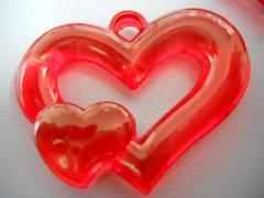 Cuoricini rossi x 50 semitrasparenti
