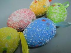 Uova puntinati  cm. 7 Confezione da 5 misti