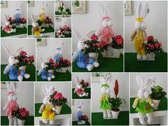 Conigli con cestino   in 2 modelli