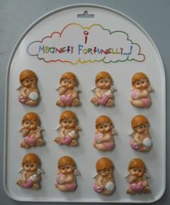 Angioletti rosa x 12 con magnete