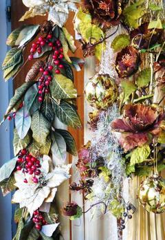 Festone  H 180 bacche e magnolie
