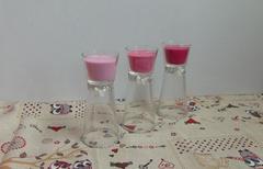 Candela clessidra x 3 color rosa