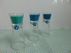 Candela clessidra x 3  color tiffany