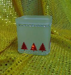 Cubetto vetro 7,5x7,5 satinato bianco