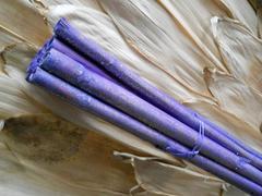 Canne x 8 Lillac H 150  glitterate