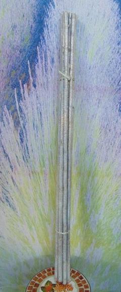Canne H 150 x 8  Bianche glitterate
