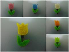 Mollette tulipano x 24 in feltro