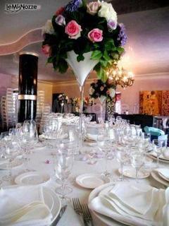 Coppa Martini H 90 dm.34 in vetro per Fioristi e Wedding