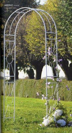 Arco sposi in metallo H 247 x 116
