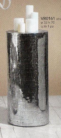 Alzata cilindrica H 70 con specchi a mosaico