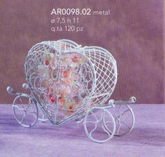 Mini carrozzina cuore cm. 11 Box 60 pz  conf. 60 pz