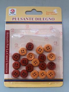 Bottoni in legno x 20 Ass.  in vari colori