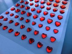 Cuoricini rossi x 84 adesivi