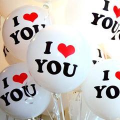 Palloncini x 100 I Love You gonfiabili in gomma