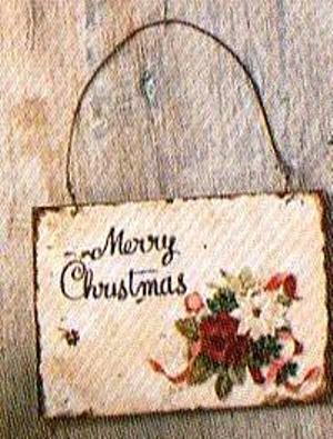 Targa Merry Christmas  metal cm. 11 x 8