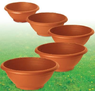 Ciotola campana in plastica color terracotta - Sconti per Fioristi e Aziende