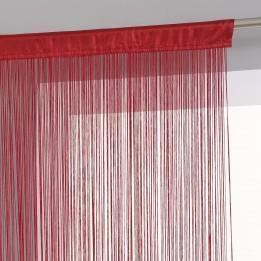 Tenda Rossa a fili  di cotone  H 270 x 90