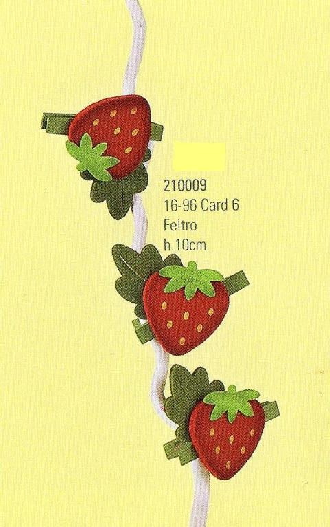 Mollette fragola  Conf. x 6  in panno