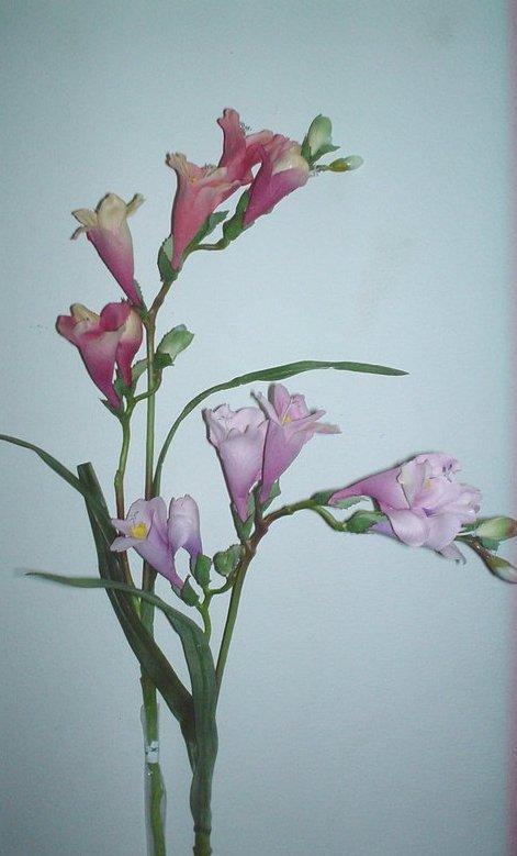 Fresia Artificiale x 2 Arredo  in pongee silk - Sconti per Fioristi e Aziende
