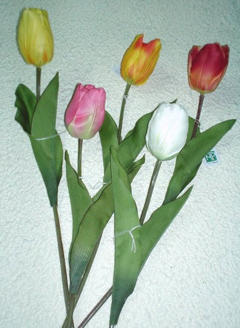 Tulipano Olandese H 47  Artificiale in poliestere - Sconti per Fioristi e Aziende