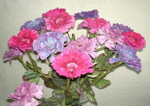 Zinnia Velvet Singola Artificiale in poliestere per fioristi e wedding