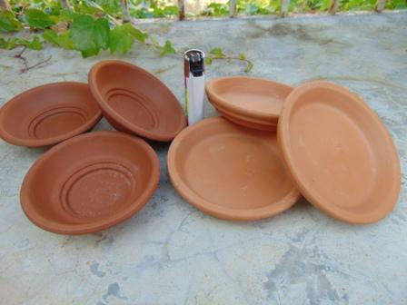 Sottovaso  Terracotta in due misure