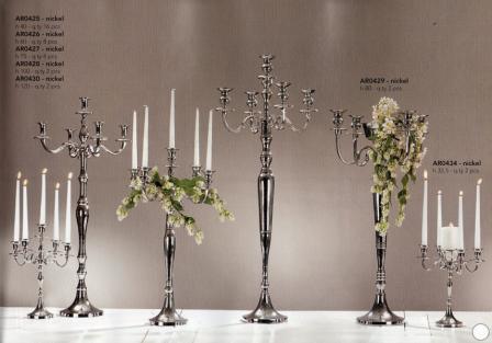 Candelabro H 75  cinque luci Bianco - Oro - Silver