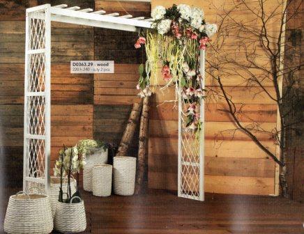 Arco rettangolare in legno  H 240 x 220 con intreccio