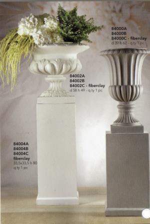 Colonna Retta H 80 fiberclay con base cm. 34 x 34 per fioristi e wedding
