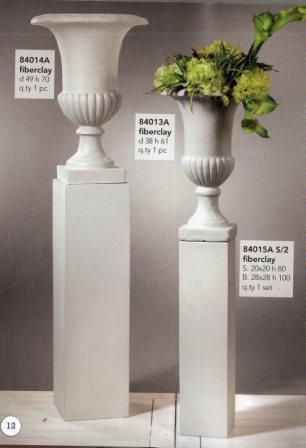 Coppia Colonne Quadre H 100 e H 80 in fiberclay