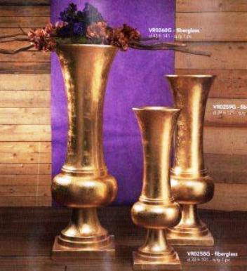 Vaso kiev oro con base H 101 - Sconti per Fioristi e Aziende