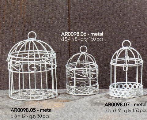 Gabbia mini singola H 9 Dm. 5,5 in 3 modelli - Sconti per Fioristi e Aziende