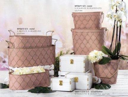 Cestelli - Ovaline - Beauty case in metallo rosa cipria - Sconti per Fioristi e Aziende