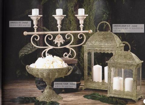 Set 2 Lanterne, Portafrutta e Candelabro 3 fiamme per matrimonio