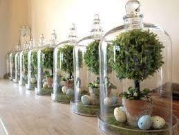 Campane in vetro  H 40 c/s base legno