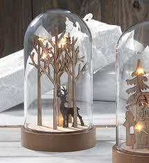 Campane in vetro  H 27 e H 30 c/s base legno