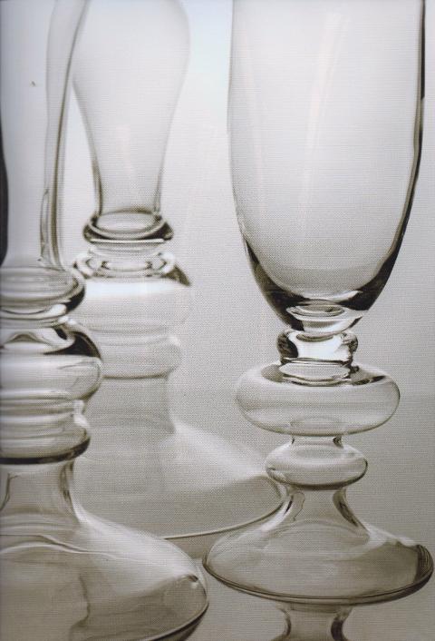 Calici vetro con anelli H 80 e H 94 trasparenti