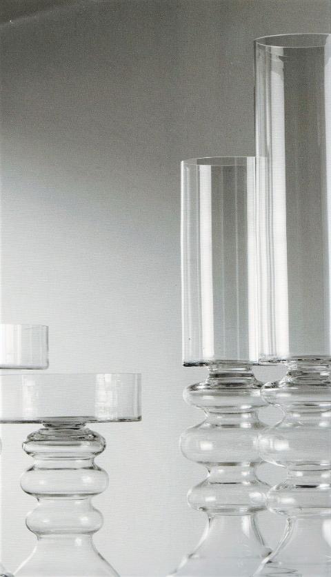 Cilindro vetro con anelli H 50 - H 80 - H 100 trasparenti