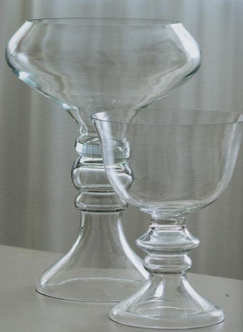 Coppa vetro due anelli H 38 e H 55 trasparente